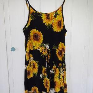 Sunflower Print Romper